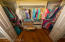 Master Bedroom Closet Walk-in for hanging clothes