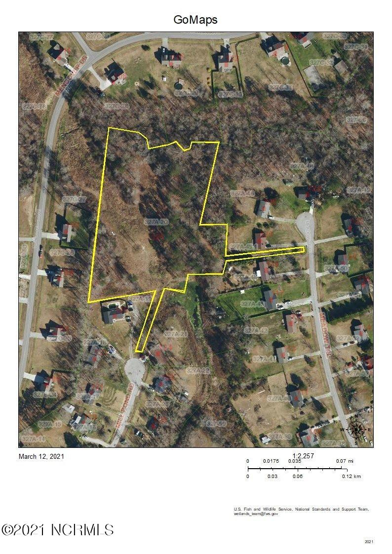 over 4 acres of rolling hills - mature trees beautiful building lot. Build your dream home.