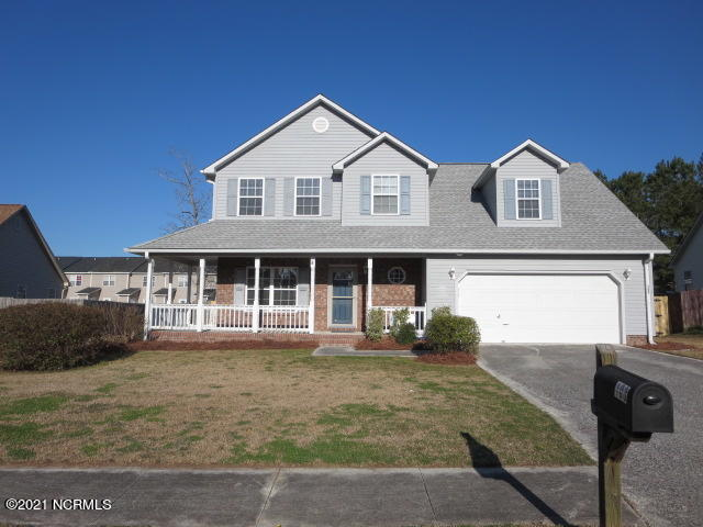 Beautiful four bedroom home, great space offering formal living room, formal dining room, large family room with fireplace as a focal point.  Kitchen with pantry, island and eat in breakfast area too!  Four bedrooms with one being a massive room over garage with great closet space!  The master suite will spoil you too, with his and hers closet and large master bathroom with soaking tub!  Fenced yard too! Close to all military bases, shopping, schools, restaurants and waiting to welcome its new family. Home freshly painted interior, new carpet throughout, new front door, new side garage entry door and new water heater!  Seller offering $2500.00 appliance allowance and a 2-10 Home Warranty!