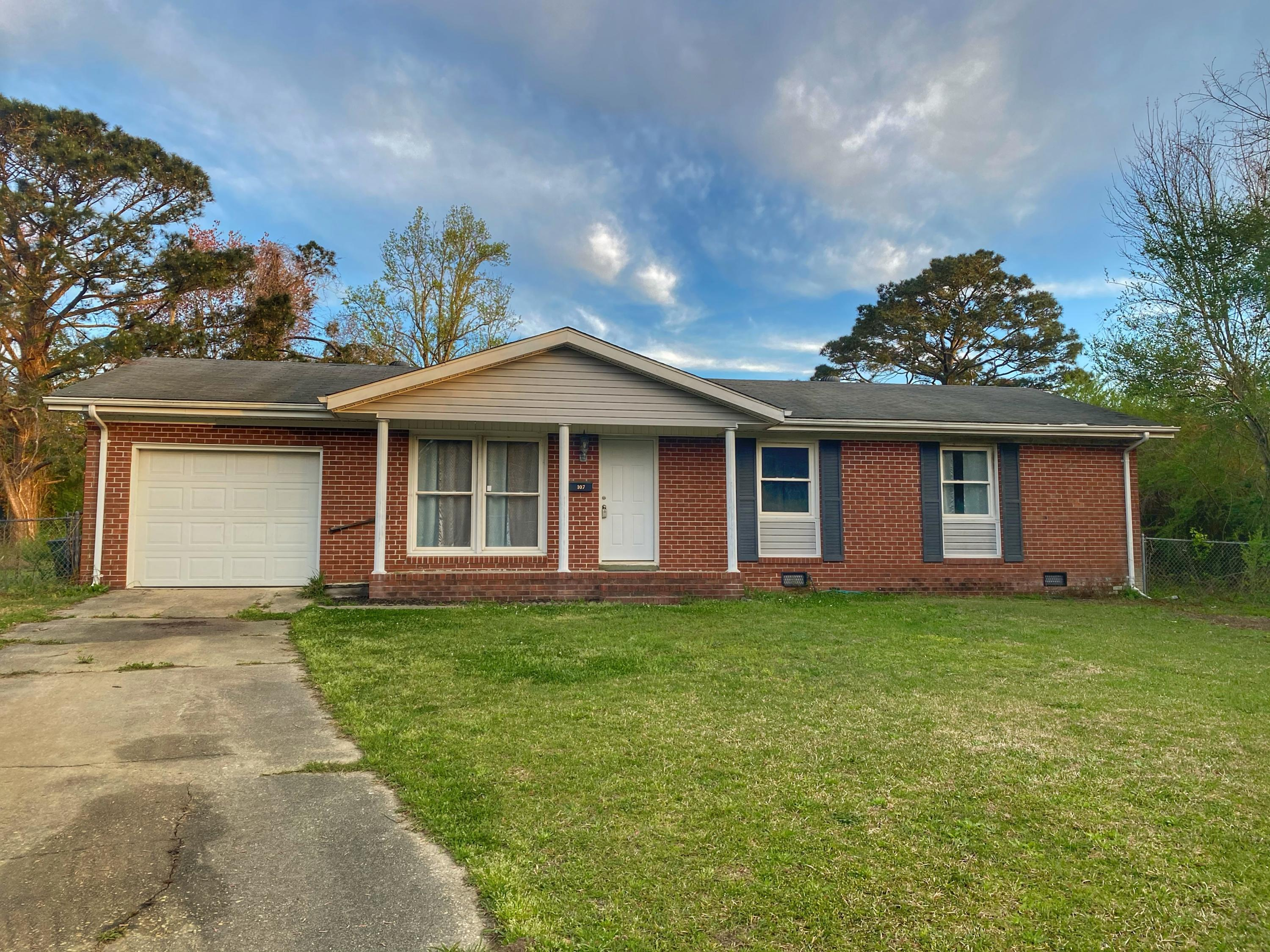 You don't want to miss an opportunity like this one! This adorable brick ranch boasts 3 bedrooms, 2 baths, and best of all, no HOA. Conventionally located in the heart of Jacksonville, this property is only minutes away from Camp Lejeune, MCAS New River, and local beaches. Call today for your showing!