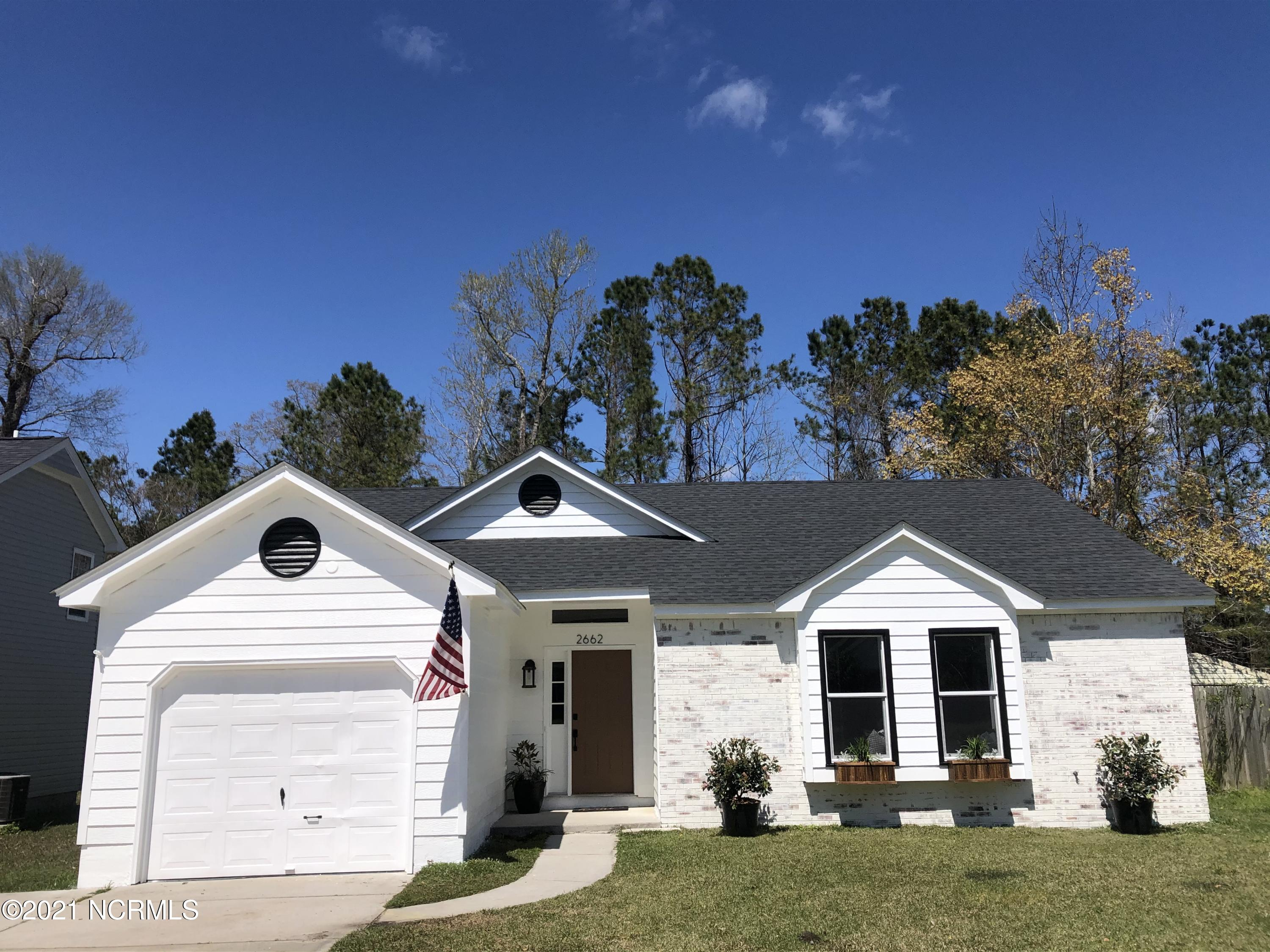 Welcome Home! Picture Perfect! Beautifully and completely remodeled.New Roof, HVAC, Paint inside and out, Flooring, Appliances, countertops too much to list!! Must see to appreciate this adorable home in Hunters Creek!Minutes from Camp Lejeune, Shopping, Restaurants and Hospital.