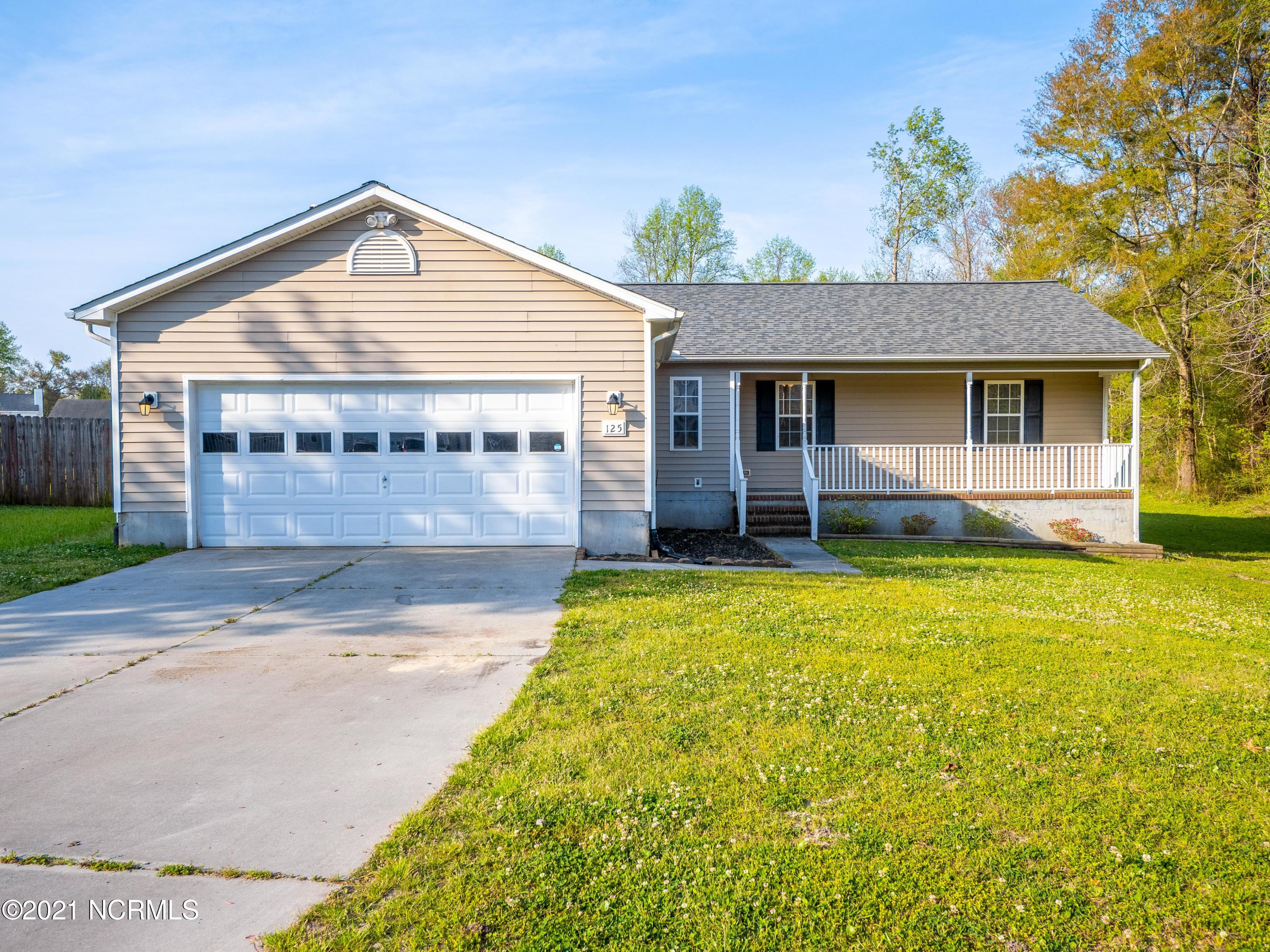 Move In Ready 3/2 with 2 car garage. This home comes complete with a fenced in yard and sits at the end of a dead end street with no HOA and no city taxes. All the privacy you could want but still just a few minutes to everything! The roof was recently replaced in 2019, carpet replaced in 2018, and the appliances are newer too.  Get your cozy on with the wood burning fireplace in the living room with vaulted ceilings.