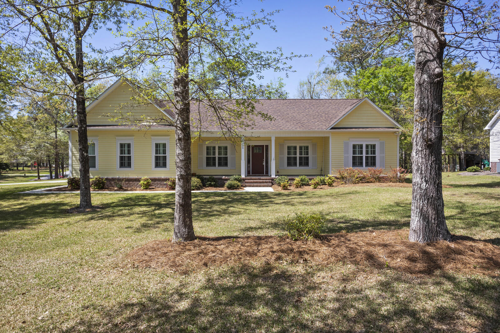 Welcome to Swans Bluff, a private community in Onslow county. This custom house is a beautiful three-bedroom home with an office, two-car garage, large cement driveway with boat parking.Deer are a very common sight in the community due to the proximity of Hammocks Beach State Park across the street from the house. The house comes with 1 of 10 boat slips ( slip #1) on the community dock. The dock puts you just minutes away from the Intracoastal waterway, great beaches, sandbars, and even restaurants & local watering holes in downtown Swansboro.   The backyard has a screened-in porch with a wood deck and a Michael Phelps MP Signature Deep swim spa beside the deck installed in September 2020. The deck and pool have a wooden privacy fence on one side and cattle-style fencing on the opposite side. Get ready to lounge by the fire pit and enjoy those beautiful Eastern North Carolina evenings.The home has a perfect blend of hardwood flooring in the common areas and carpet in the bedrooms and office for that warm touch. The kitchen boasts marble countertops double sinks and all stainless-steel appliances ready to make any meal preparation a snappy delight. Bathrooms have tiled floors and the master bedroom has a tiled shower with two shower heads which one happens to be a rainfall shower! Enjoy those casual days by the gas fireplace and curl up with a favorite book or enjoy your favorite shows with your tv above the fireplace. There is no shortage of places to lounge or entertain in this home with a large front patio, a screened-in porch, and a wooden deck. This house is the one for you! Don't hesitate, schedule a showing today!