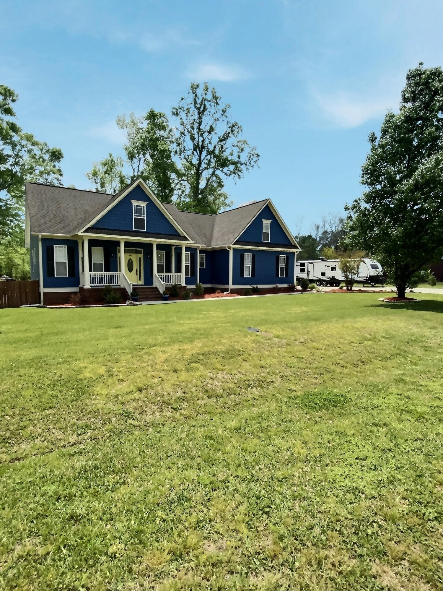 Look no further! This incredible home in Hinson Farms offers so much and no HOA's! Immaculately kept, this 3 bedroom 2 bathroom with large bonus room over the garage sits on 2.86 acres!  The backyard is an oasis with screened porch and new deck, inground pool, firepit, 2 gazebos and workshop with chick coop!  Walk up the to the home with fresh paint, relax on the covered front porch. Step into the home,  a large foyer, formal dining area to the right, living room has vaulted ceilings & cozy fireplace too!  Granite countertops grace the kitchen. Tons of crown molding throughout the home.  This home will not last long!