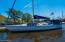 Boat at Town Dock -Marina across the Harbor