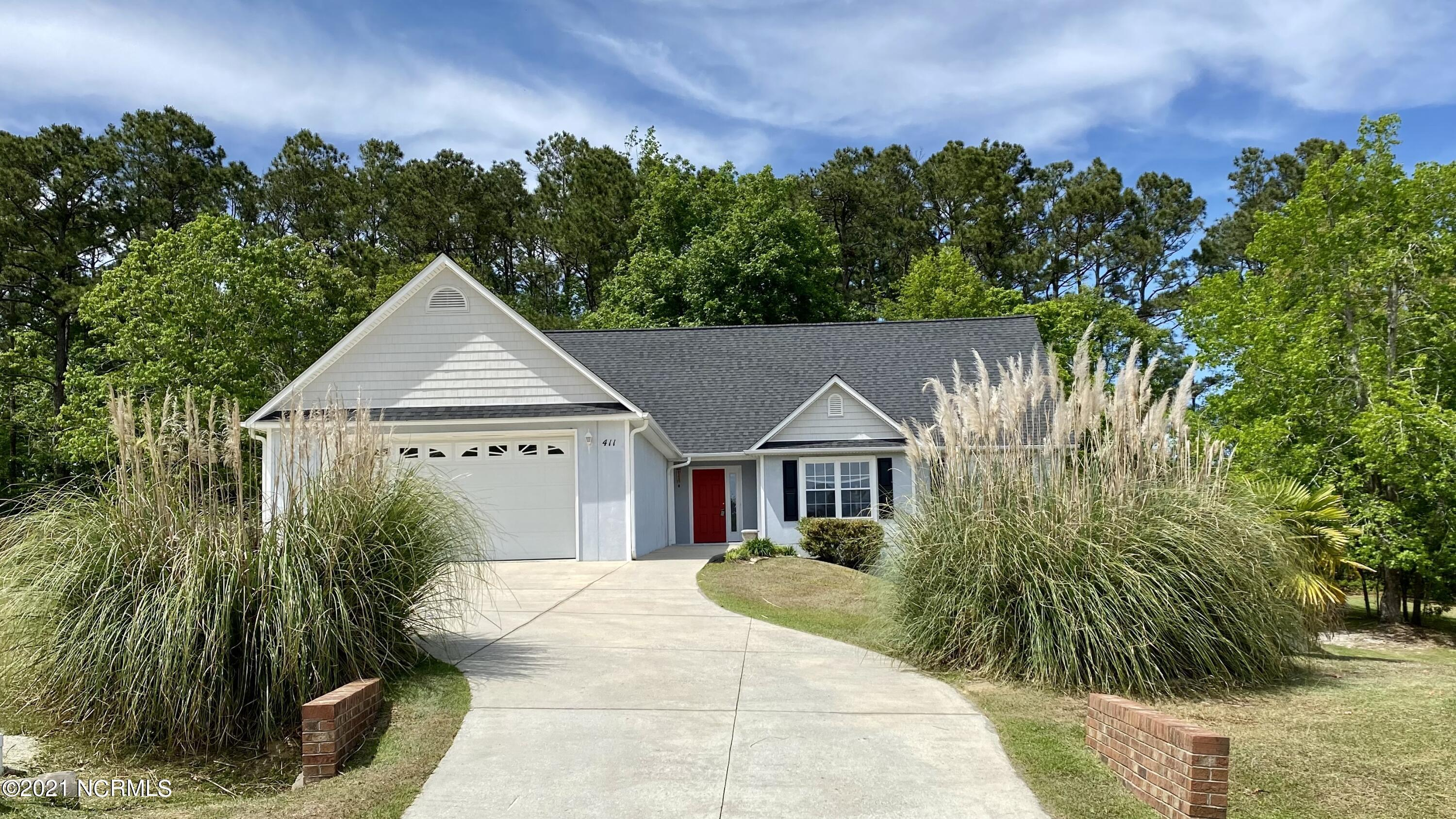 """This gorgeous one of a kind home is located in the River Reach WEST subdivision. This community has a dock and boat ramp access to the White Oak River. This home is constructed with 10 1/4'' thick concrete walls, superior walls NC, concrete (not stucco or EFIS) which make it very energy efficient and sound deadening. It is ideal for safety during Hurricane season. It's very rare to find a home with a FULL BASEMENT in this area, but this home has one! It is conditioned and partially finished. Possible uses could be a huge children's playroom, workshop, man cave/she shed...Additional living area and a bathroom (plumbing roughed in-in slab) can also be installed in the basement.  The home's interior has tall vaulted ceilings and interior has just been freshly repainted.  It also has new LVP & carpet flooring throughout and a new roof, 2019.  The relaxing backyard is large with 6' privacy fence.  This rare home won't be on the market for very long - so schedule a private tour today and claim it! Located only 2.6 miles from Walmart. Conveniently located to restaurants, shopping, churches and schools. Only 2.3 miles to Downtown Swansboro and 7.5 miles to Emerald Isle public beach access. Located midway between Camp Lejeune, MCAS New River and Cherry Point, Jacksonville and Morehead City. (See More) Copied from the Superior Walls Web Site  """"Smart homeowners demand the Superior Walls advantage. For superior new home comfort, Superior Walls foundations are custom-designed and built to demanding specifications to be dry, warm and smart. Superior in every way. Because when your new home is built with Superior Walls, you can enjoy increased building efficiencies-with your assurance of superior living. DRY: Superior Walls' special 5,000+ psi concrete mix is moisture resistant. Because additional damp-proofing is not required, this can help you save both time and money. With the specified crushed stone footing and perimeter drain, water will be directed away from your foundation,"""