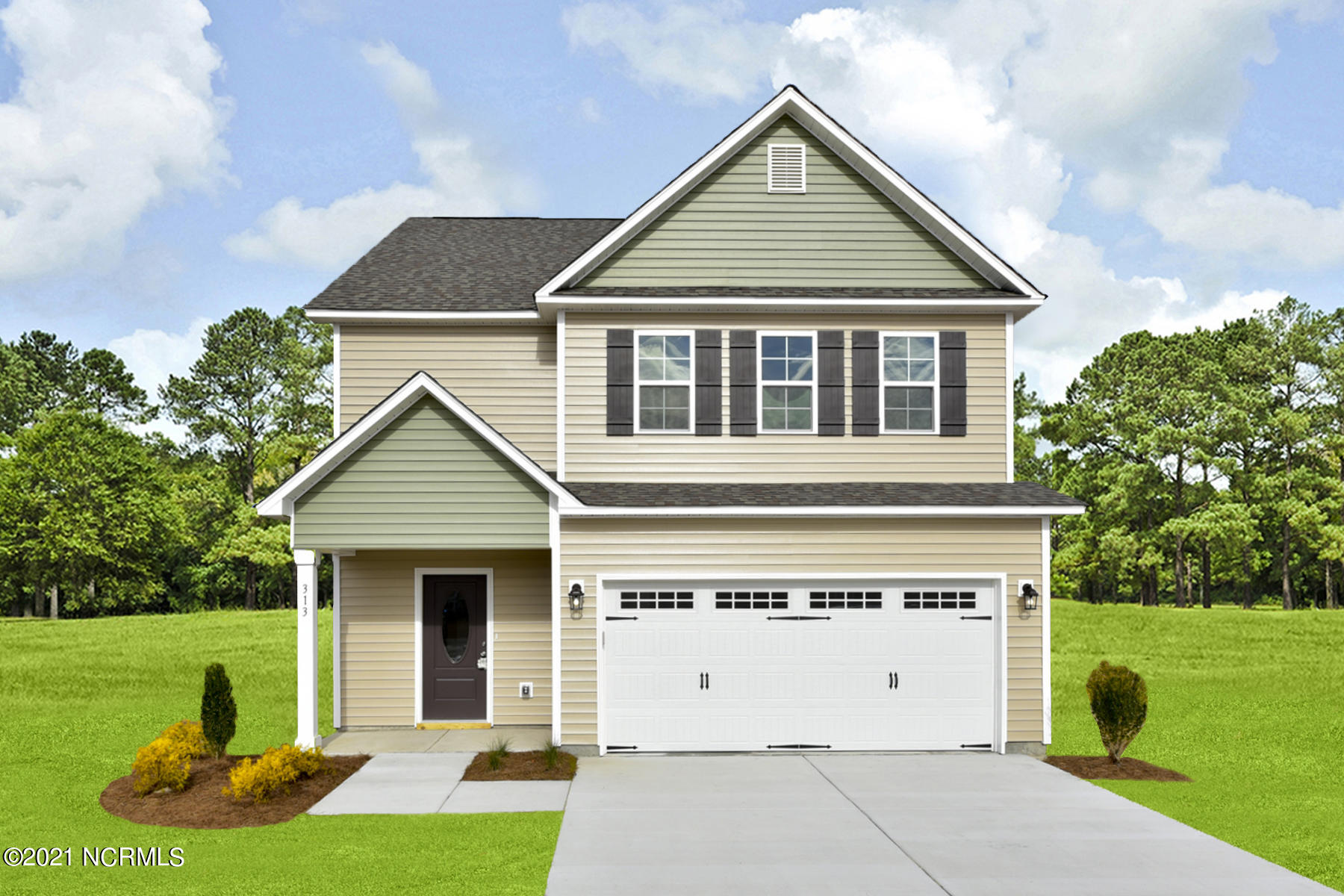 Introducing the ''Lenox'' floor plan at Blue Creek Estates! This new home offers 3 bedrooms, 2.5 bathrooms, and a 2-car garage; at approximately 1,807 heated square feet! Located in a quiet country setting yet only minutes to local bases, schools and shopping! Featuring architectural shingles, low maintenance vinyl siding, energy efficient heat pump, a sodded front yard, and professional landscaping. Interior features include designer inspired paint, flooring, lighting, cabinets and countertops. In addition, you will enjoy smooth ceilings, ceiling fans in the living room and master bedroom, plus stainless-steel appliances! Contact me today for more information.