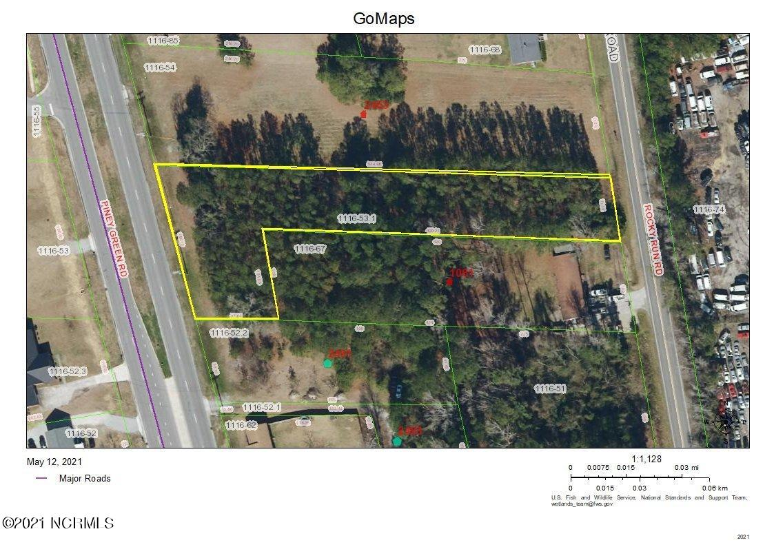 Land with access from Piney Green Road (road frontage 186') and Rocky Run Road (road frontage 71'). Currently zoned HB-Highway Business