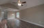 Vaulted Ceilings in the Spacious Great Room that has built in entertainment center.