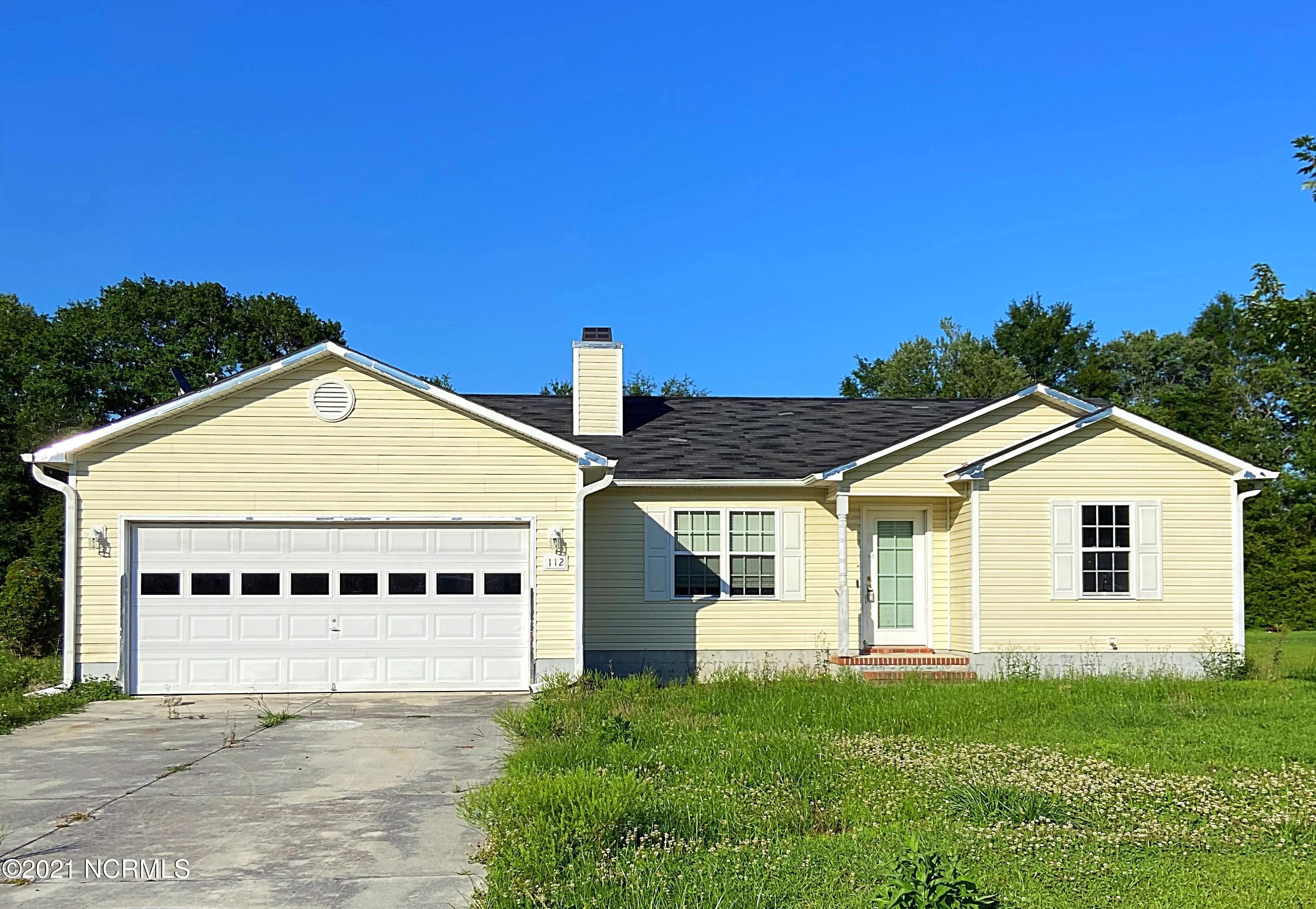 Three bedroom, two bathroom home just minutes away from the OAJ airport! There is a shed in the back yard that will be perfect for storage! This house has lots of potential, it just needs a little bit of TLC. Home is being sold AS IS. Please contact listing agent with any questions!