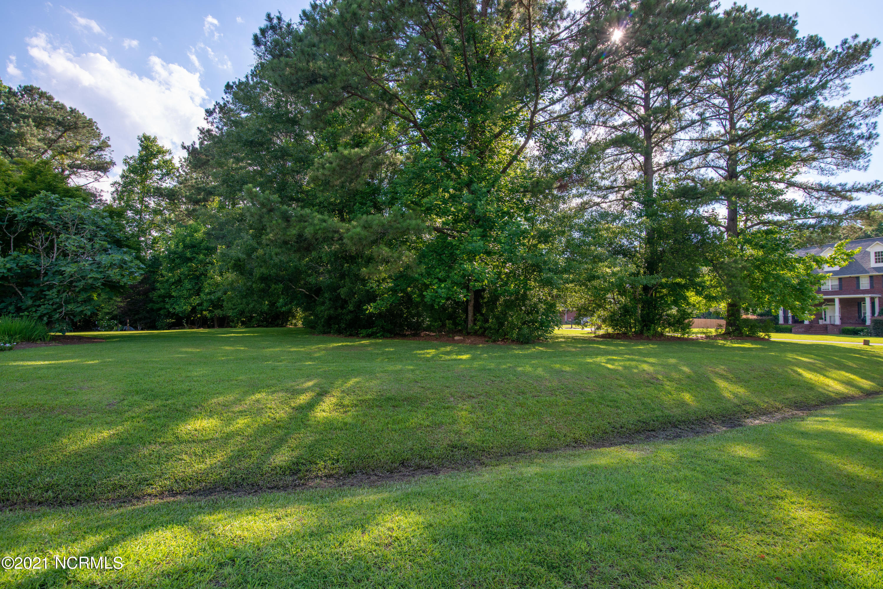 Beautiful 1.16 acre wooded lot in Hinson Farms.  Quiet corner lot, that feels like country living, yet close to everything.  Mature trees, landscaped beds and established grass.  Non-expiring soil evaluation on hand for a 4 bedroom home.