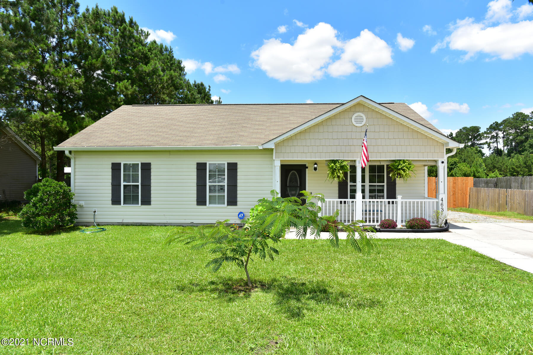 All the heart eyes for this sweet home in Maysville! Want to be close to all that Jacksonville and Swansboro have to offer, but without all the hustle and bustle? This is the home for you!! This 3 bedroom 2 bath home sits on just under 1/2 an acre with a fully fenced back yard. The inside has been recently renovated with all new LVP flooring and carpet throughout the home. That kitchen is Ah-ma-zing! Beautiful cabinets, granite countertops, tile backsplash, large single basin sink and LG stainless steel appliances make it perfect for those who love to cook! All bedrooms are of great size with plenty of closet space. The master bedroom has vaulted ceilings, large walk in closet and en suite bathroom for extra privacy. Out back there's pleny of room to grow your own garden if thats your thing, there's already a space for that, right next to the fig trees!! The 25x30 structure with 2 roll up doors is plenty of room to store just about anything you can think of, including 2 vehicles! The possibilities are endless. Come take a look and make this house your home!