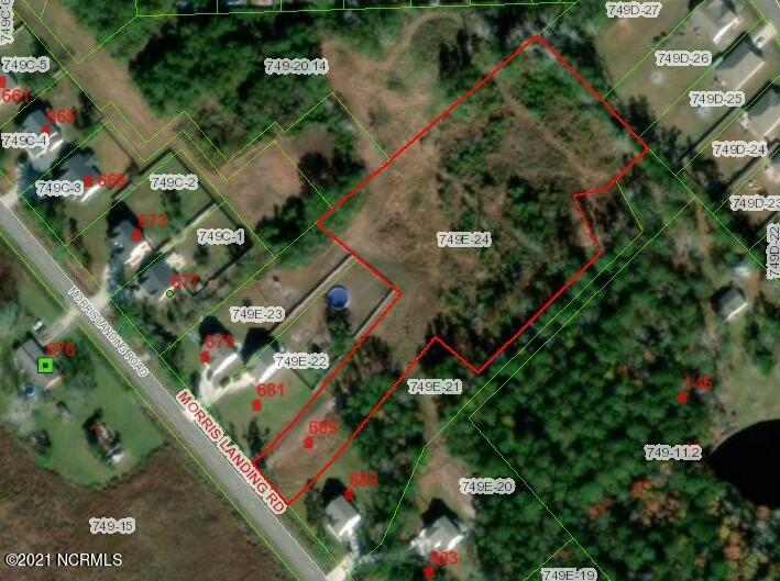3.38 acres of vacant land to build a new home on and located less than 10 miles to Topsail Beach. Large lot affords space for boat parking or a shop. There is a septic permit in place as well.