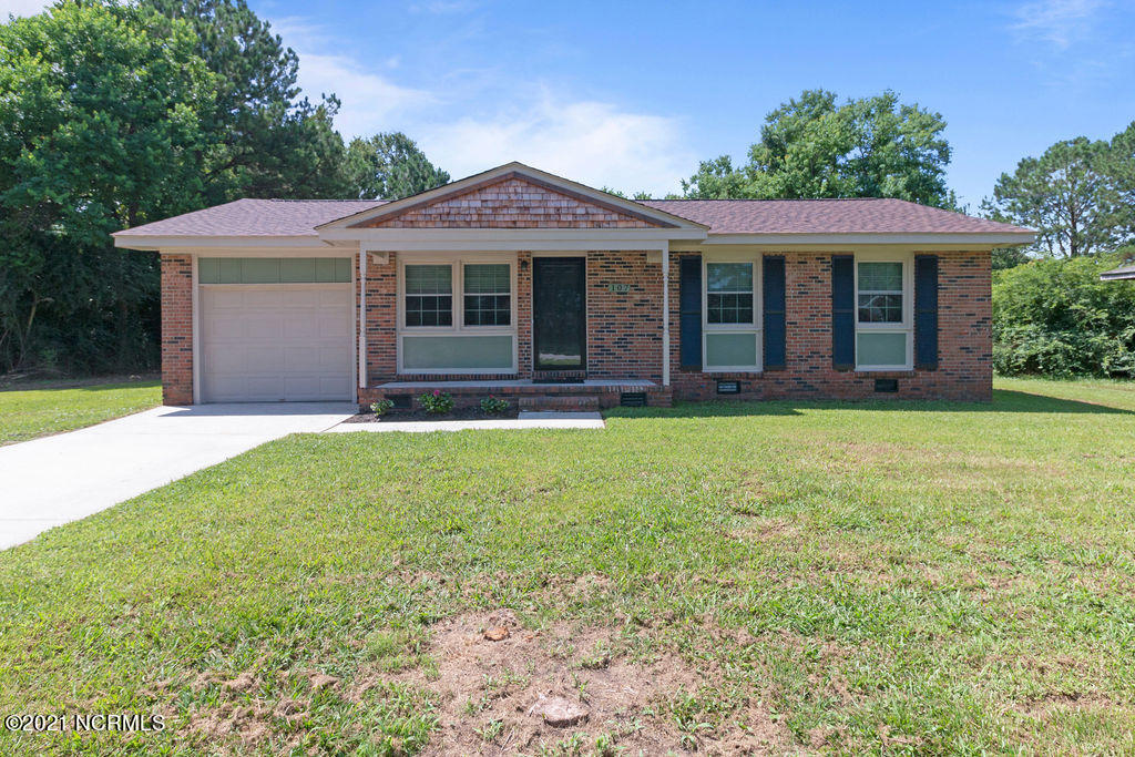 Your home sweet home awaits on Butternut Lane! Located just 10 minutes from MCAS New River and 15 to MCB Camp Lejeune, this charming brick beauty is just like new! it features a newer roof and attractive wood-look laminate flooring throughout... that's right, absolutely no carpet here! This home brings all the character and airy vibes - with fresh neutral paint as well as an updated kitchen and bath showcasing stunning white cabinetry and modern black fixtures that are sure to make a statement. 107 Butternut Lane will not disappoint - schedule your showing today!