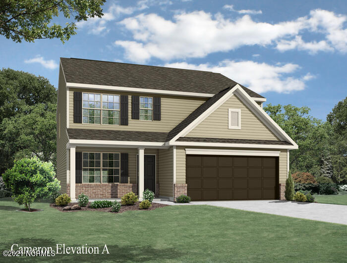 New Plan built by Windsor Homes.   Come check out the Cameron.   2240 Square feet, four bedroom upstairs, with homesite that backs up to the community lake and dock.  The Arbors is conveniently located between Wilmington and Jacksonville, and just a short drive to Topsail Beaches.  Highly sought after Pender County School district.   Interior will include Luna Pearl  granite countertops, kitchen tile backsplash,  upgraded brushed nickel lighting package and fixtures, whirlpool stainless steel appliance package, Inspire Grove Park LVP flooring, and a wonderful 16 by 16 straight laid tile in wet areas.  Cul de Sac lot.  Exterior feature to include Kentucky Ledgestone wainscoting with two tapered columns and stone bases.  Relax on your covered Deck out back and enjoy the views! WH2001