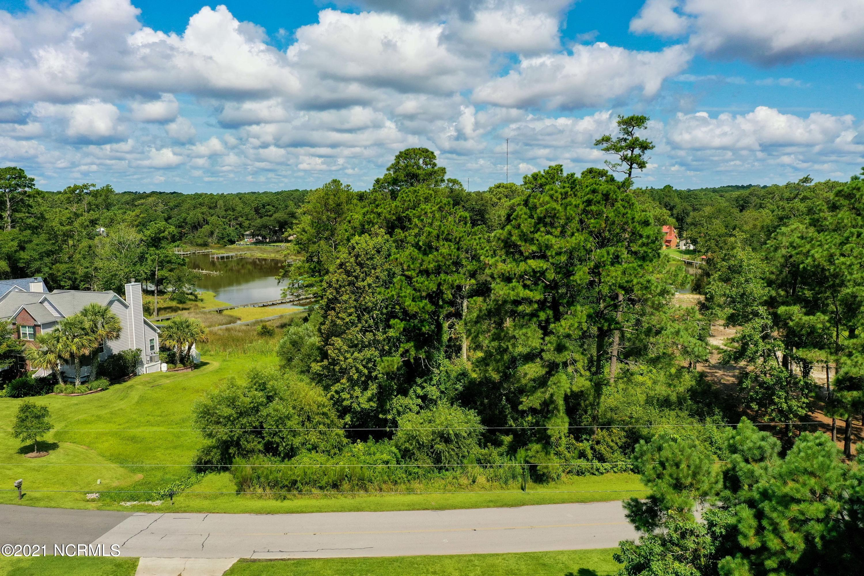 This is a double lot on the waterfront in Chadwick Shores with 147 ft on the water and 161 ft of road front, providing plenty of privacy.