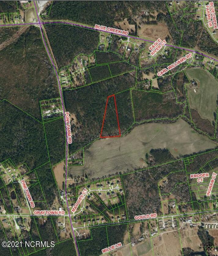 Over 5 Acres of beautifully wooded land. Close to Camp Lejeune but outside of the city limits. Legal access is not known.