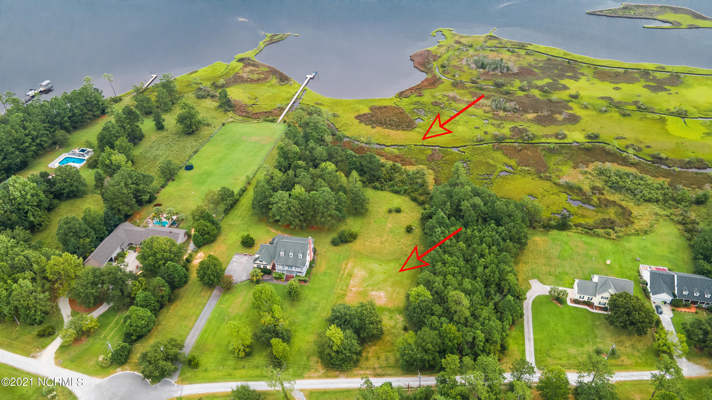 Beautiful waterfront lot providing over 3 acres of land and ready for your dream home!  Tranquil setting with panoramic views of the White Oak River and breathtaking sunsets. With interest rates staying at historic lows, NOW is the time to build your dream home and live the life you deserve! Four Bedroom septic system installed. Well water only.