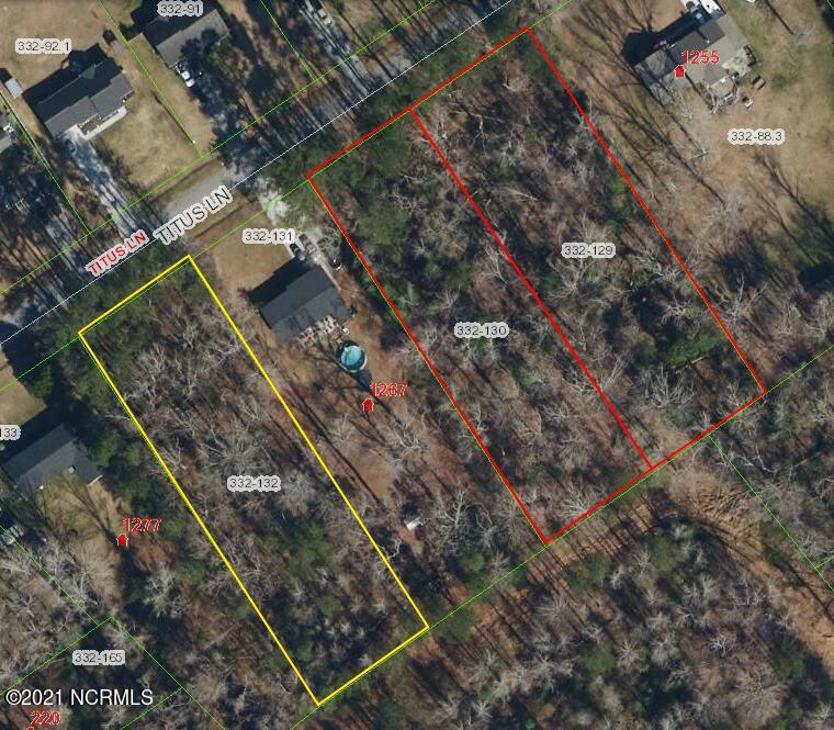 There are 3 lots on Titus lane, 2 next to one another, the other in between 2 existing homes. All 3 lots are wooded/not cleared. Outside city limits.