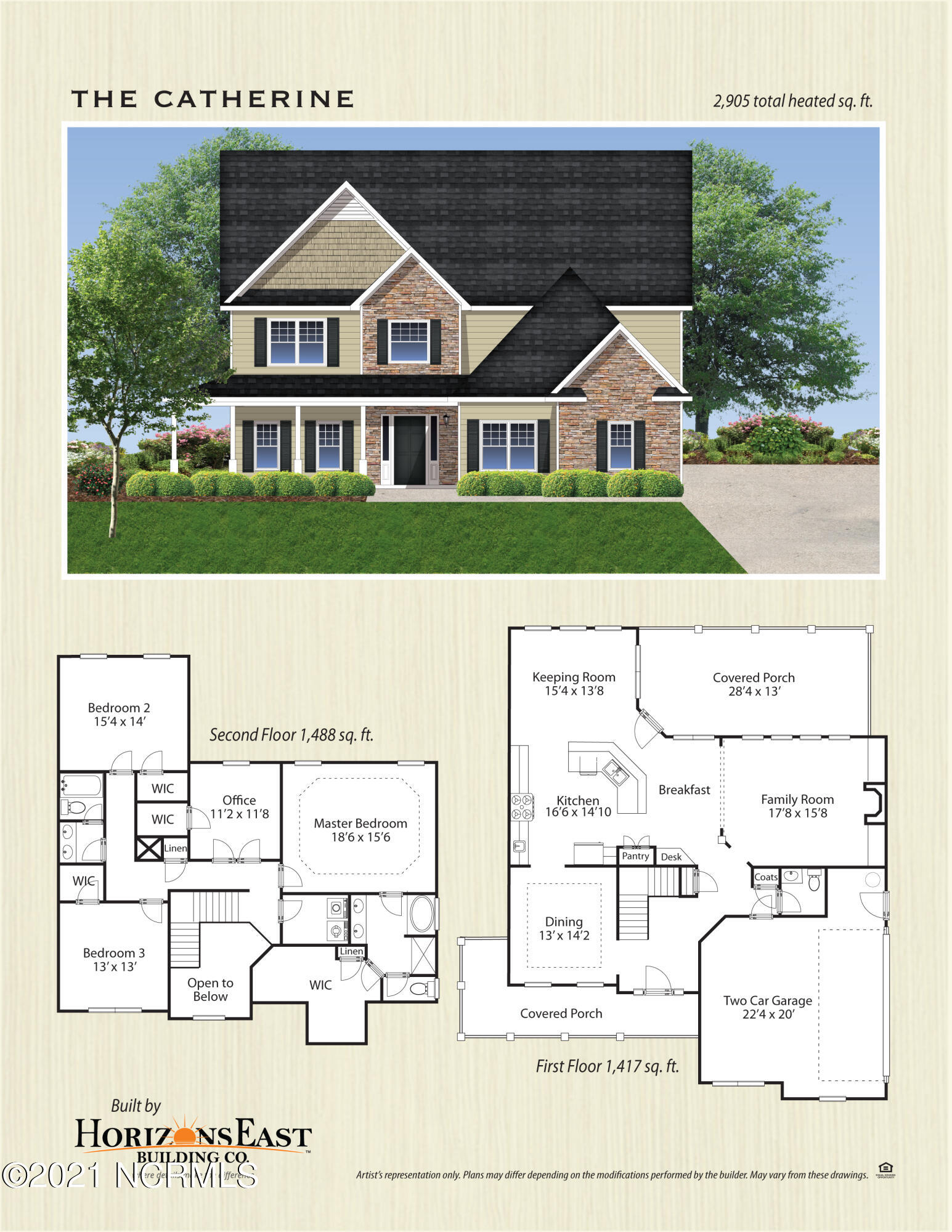 Introducing the ''Catherine'' floor plan at Surf City's newest subdivision, Magnolia Reserve! This new home offers 4 bedrooms, 2.5 bathrooms, and a 2-car garage; at approximately 2,905 heated square feet! Located in a quiet country setting yet only minutes to local beaches, schools and shopping! Featuring architectural shingles, low maintenance vinyl siding, energy efficient heat pump, a sodded front yard, and professional landscaping. Interior features include designer inspired paint, flooring, lighting, cabinets and countertops. In addition, you will enjoy 9' smooth ceilings on the first floor, ceiling fans in the living room and master bedroom, plus stainless-steel appliances! Contact me today for more information!