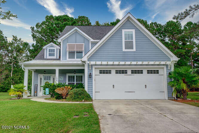 **MOTIVATED SELLERS**Don't miss the opportunity to own this custom built home in the highly desirable neighborhood of Saltwater Landing. This beautiful home boasts three bedrooms with an additional bonus room over the garage and a large office.  Charming features including crown molding throughout, built-in shelves surrounding the gas log fireplace, LVP flooring, granite countertops, master bed with 2 large walk-in closets, vinyl fencing, new composite deck, new paint and new gas stove, plantation shutters and kayak rack in garage.  Located on a quiet cul-de-sac street and backing up to a wooded lot makes this home a MUST SEE! Saltwater Landing is a water access community.  The home is a short walk to the community day dock, perfect for canoes and kayaks and to the community pool.  Amenity upgrades are coming soon. Welcome home!