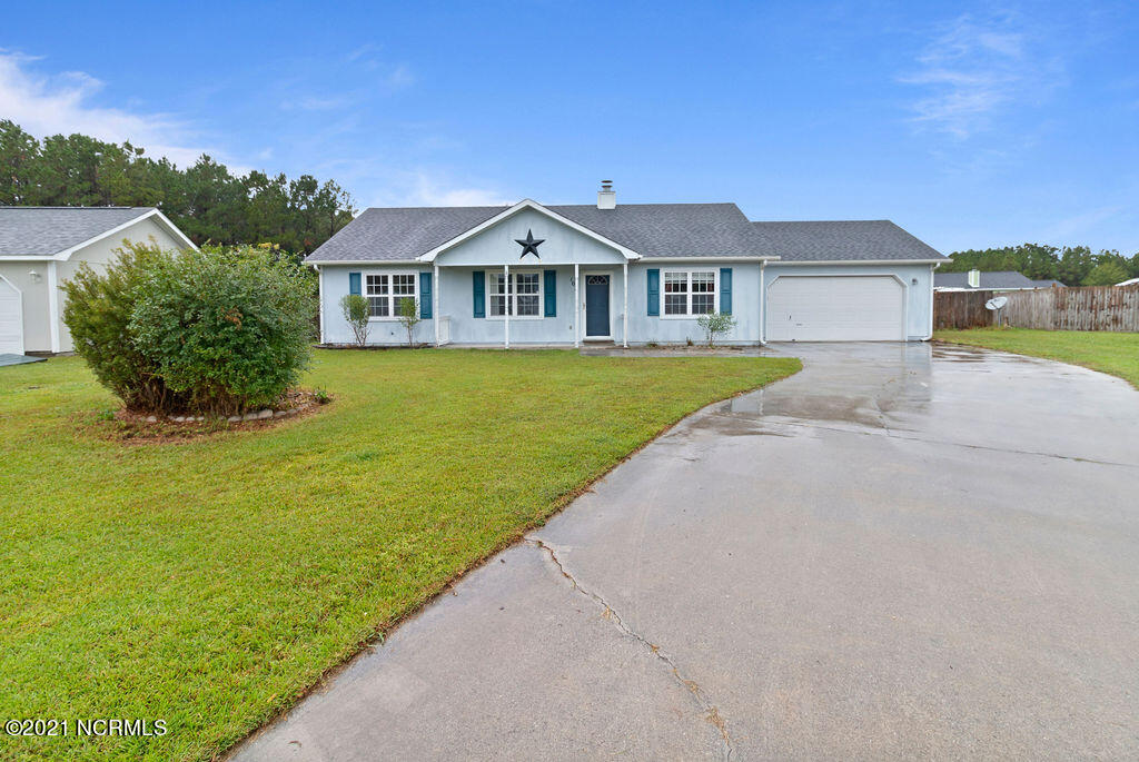 Lovely one-story home on quiet cul-de-sac!  Lots of new, new, new features! Including flooring, sliding door, screened porch out back to enjoy the huge yard!  See it today!!