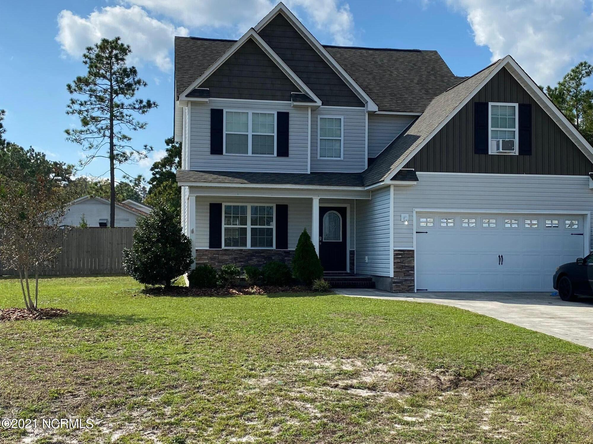 Welcome home to this spacious 3 bedroom, 2 and 1/2 bath home. As you enter the foyer, you are greeted by newer laminate flooring which extends through most of the first floor. To the right of the foyer is the door out to the two car garage. To the right, the formal dining room, a hallway with half-bath and pantry. At the end of the hallway is the open, spacious kitchen. The kitchen has dark cabinetry, an island, stainless steel appliances, and opens to the family room with gas fireplace. Off the family room is the door to the back patio, and large, fenced backyard. To the right of the family room are stairs leading to the second floor. Upstairs you will find the laundry room, two guest bedrooms and guest bath. Also, the owners suite with separate tub and shower, water closet, walk in closet, and bonus room. Schedule your tour today before this conveniently located gem gets away.