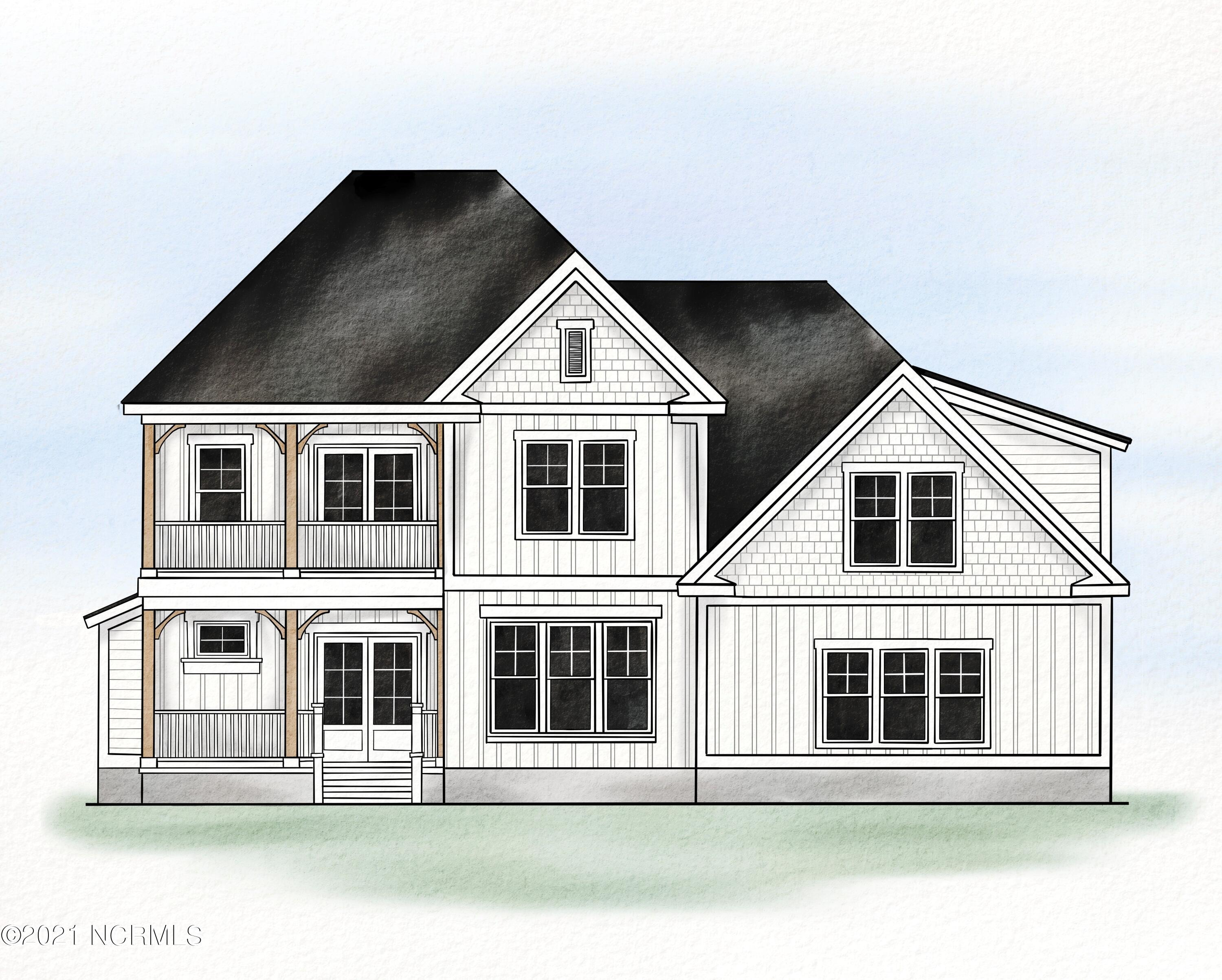 Nestled in the established community of Pelican Reef is this custom designed Maple Hill floor plan by Russell May Homes. This 3,000 square foot home comes equipped with the epitome of luxury finishes and views of the beautiful marsh off of Virginia Creek!   After a day of exploring nearby Surf City or relaxing by the clubhouse pool, cross the threshold into your home where you'll be greeted by a grand open floor plan. The kitchen/living area offers plenty of entertaining space that is sure to impress with a feature wall in the living room surrounding the fireplace with a combination of shiplap and wall-to-wall cedar shake! The professionally designed kitchen showcases hand-crafted solid wood shaker style cabinets,  gas cooktop, wall mounted oven, carefully selected quartz countertops, and chevron marble backsplash to remind you that you're living in coastal elegance. The owners' suite, located on the first floor, features a beautiful tray ceiling, elegant master bathroom with quartz dual vanity, walk-in tiled shower, and dual-sided walk-in closets with wood shelving. Upstairs you'll walk into a loft ''gathering'' space, two additional bedrooms, private balcony, and lastly a bonus room that serves as 4th bedroom!  The home is perfectly positioned in an X flood zone, and is located halfway between Jacksonville and Wilmington, with only a 15 minute drive to Surf City beaches. Pelican Reef features a clubhouse, pool, fitness center, tennis courts, and dock with kayak launch! You'll be living the dream in coastal North Carolina.
