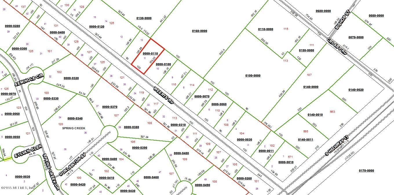 LOT 11 WEERTS, SAN MATEO, FLORIDA 32187, ,Vacant land,For sale,WEERTS,756971