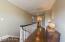 Upstairs hall with original hardwood floors