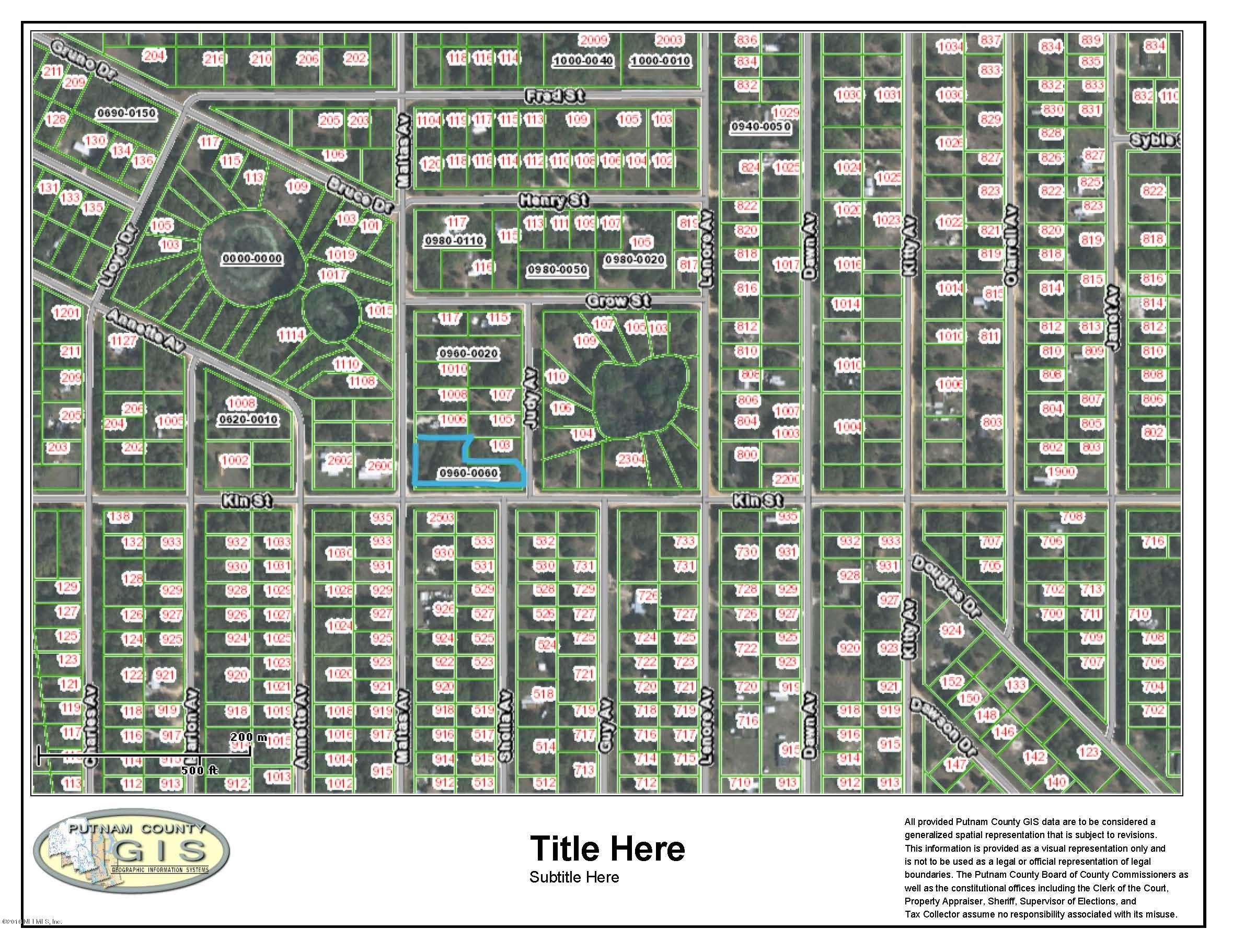 2500 KIN, INTERLACHEN, FLORIDA 32148, ,Vacant land,For sale,KIN,815769