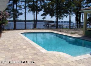 259 ft on Doctor's Lake. Enjoy the salt water pool with pavers all around