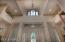 Foyer ceiling with dormer window