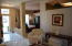 view of living room toward front door