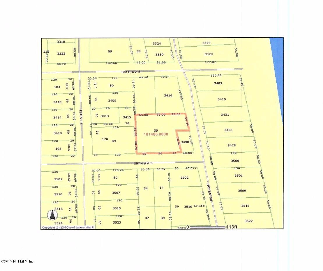 39 35TH, JACKSONVILLE BEACH, FLORIDA 32250, ,Vacant land,For sale,35TH,866420