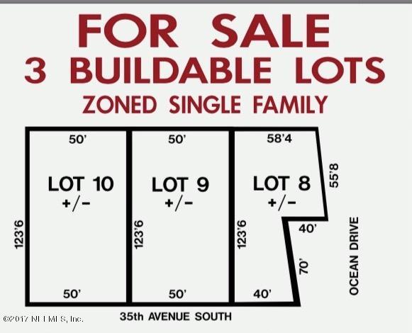 39 35TH, JACKSONVILLE BEACH, FLORIDA 32250, ,Vacant land,For sale,35TH,866402