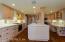Enjoy the Gaggenau gas range, Bosch dishwasher and Sub Zero refrigerator
