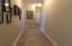 Hallway to garage and laundry room