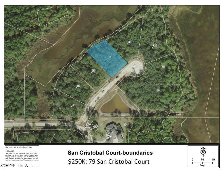 79 SAN CRISTOBAL, ST AUGUSTINE, FLORIDA 32095, ,Vacant land,For sale,SAN CRISTOBAL,890468