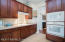 """42"""" upper cabinets with built-in oven and microwave"""