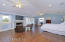 Wood floors and french doors open to your lanai