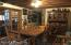 BEAMED DINING ROOM WITH HANDHEWN SUPPORT POST