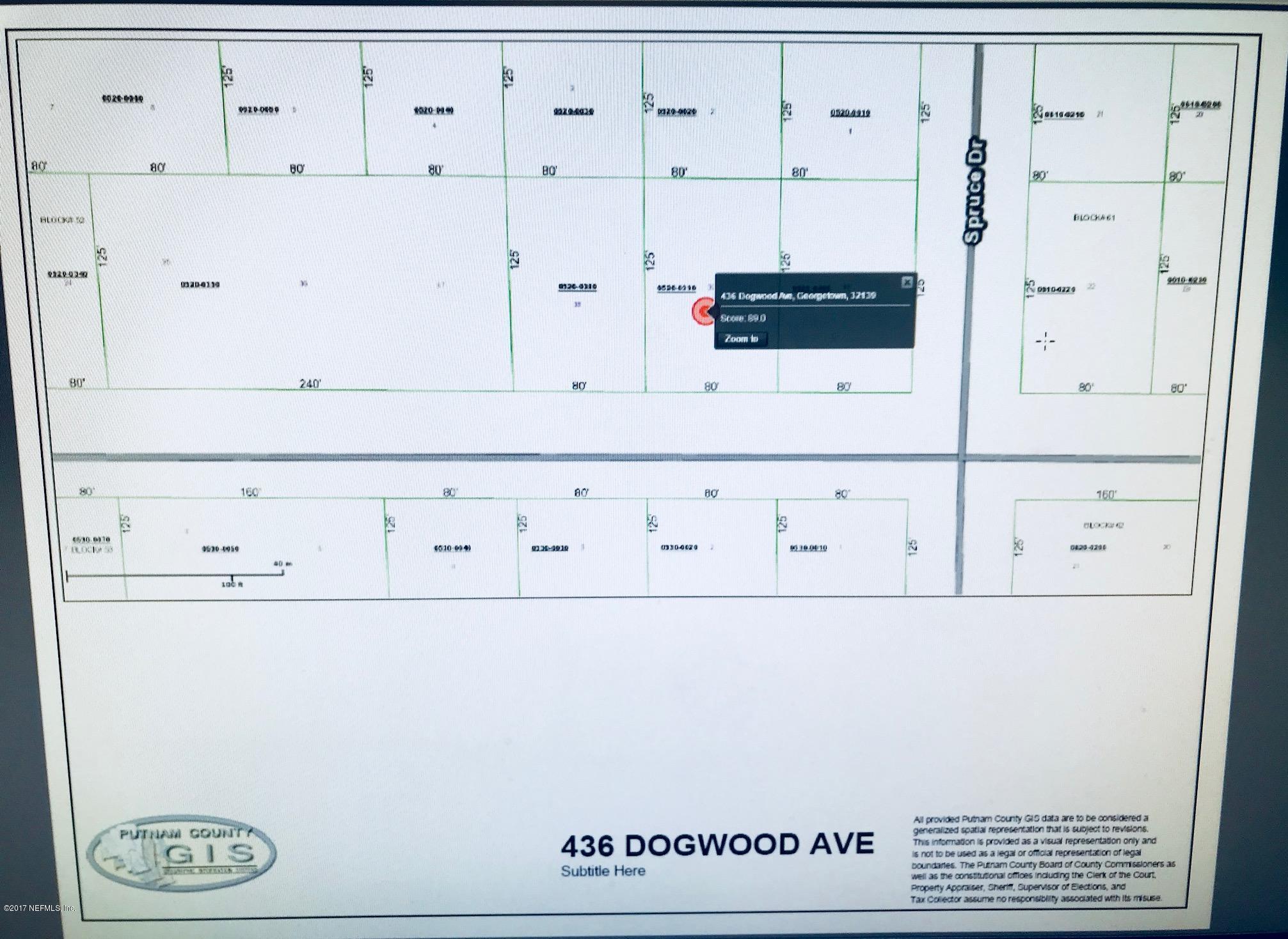 0000 DOGWOOD, GEORGETOWN, FLORIDA 32139, ,Vacant land,For sale,DOGWOOD,904512