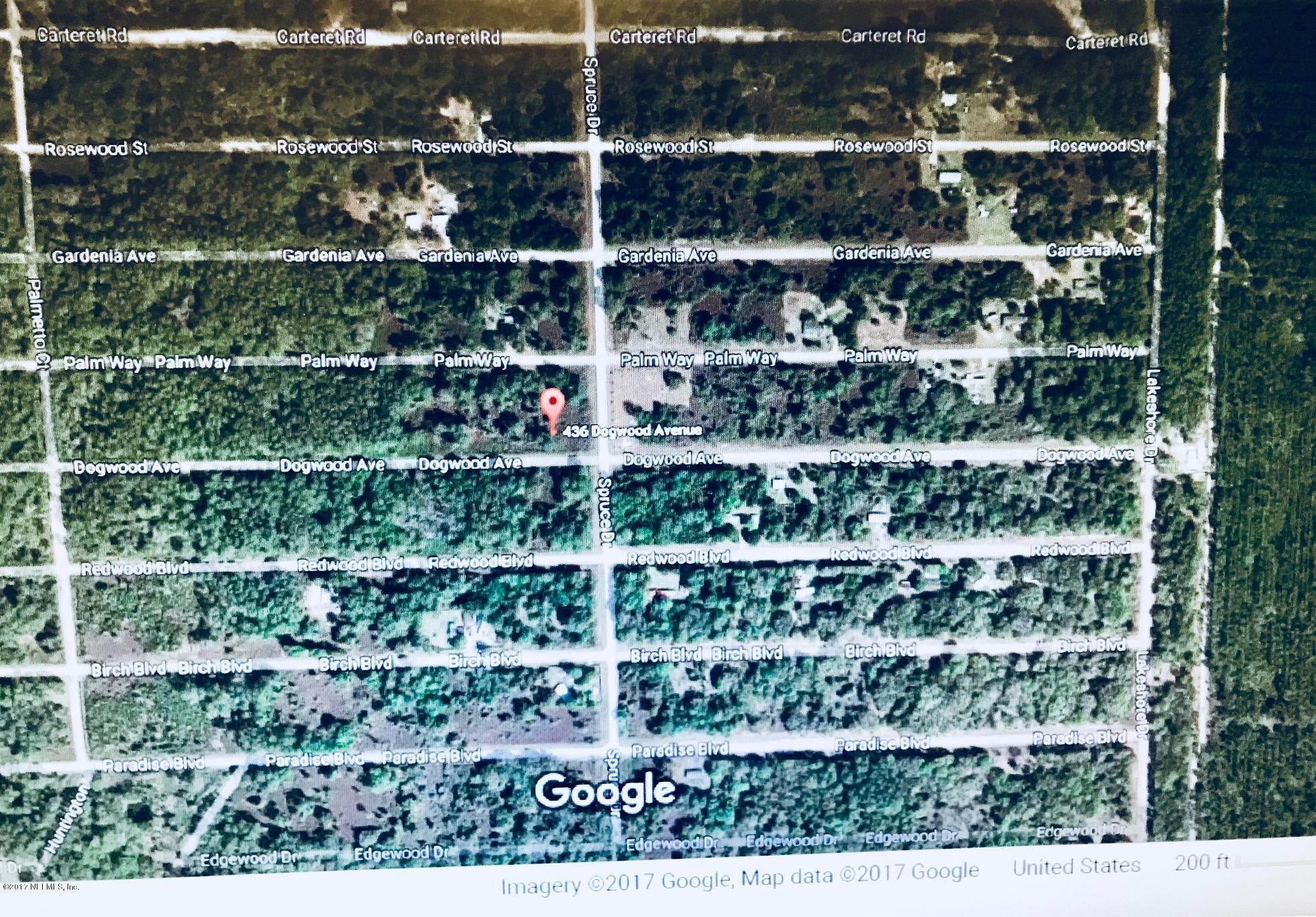 436 DOGWOOD, GEORGETOWN, FLORIDA 32139, ,Vacant land,For sale,DOGWOOD,904509