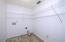 Roomy inside laundry room.