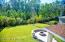 Great view of large partially fenced backyard with beautiful preserve view.