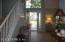 Storm glass entry door.