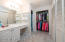 Master Bath Vanity, His & Hers Closets and Private Shower/Tub - Water Closet With Privacy Door.