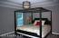 Master Bedroom has 2 - step trey ceiling