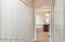 Walk in closets on both sides entering into master bath